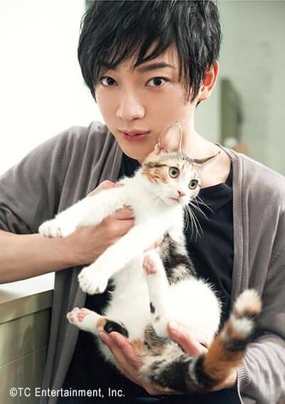 俳優「和合真一」×猫「ラムキン」の写真