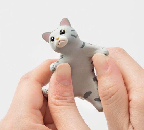弾力性のある猫の歯ブラシホルダー
