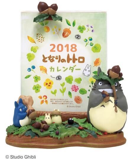 となりのトトロのジオラマ付き卓上カレンダー