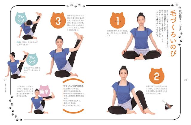 のび猫ストレッチの解説ページ