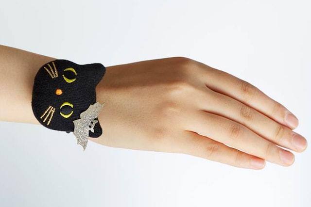 モロゾフのハロウィンギフトに付属する黒猫マスコット