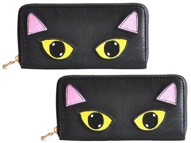 英国のデザイナー Kate Gareyによる新作「黒猫」のラウンド長財布