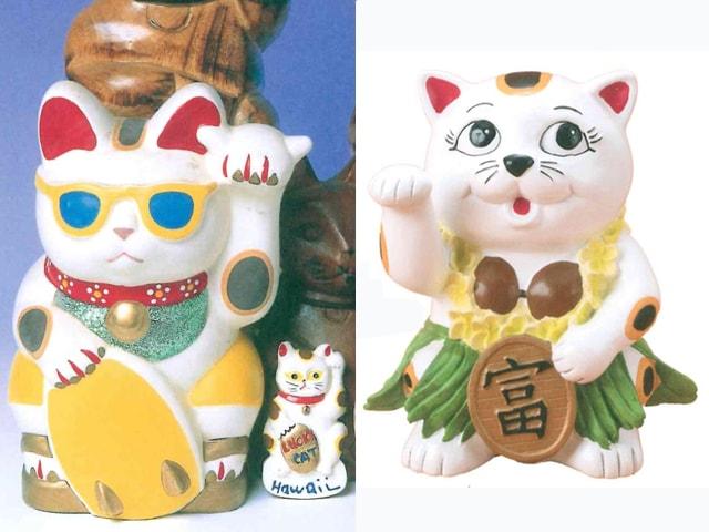 サングラスを掛けた猫も♪ 世界の招き猫を集めた企画展が開催中