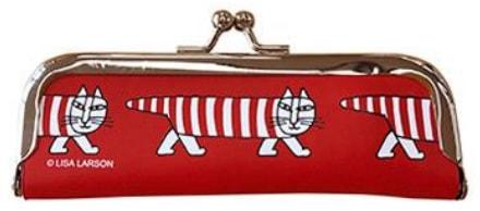 猫キャラ「マイキー」のがまぐち印鑑ケース(裏) by リサ・ラーソン×郵便局