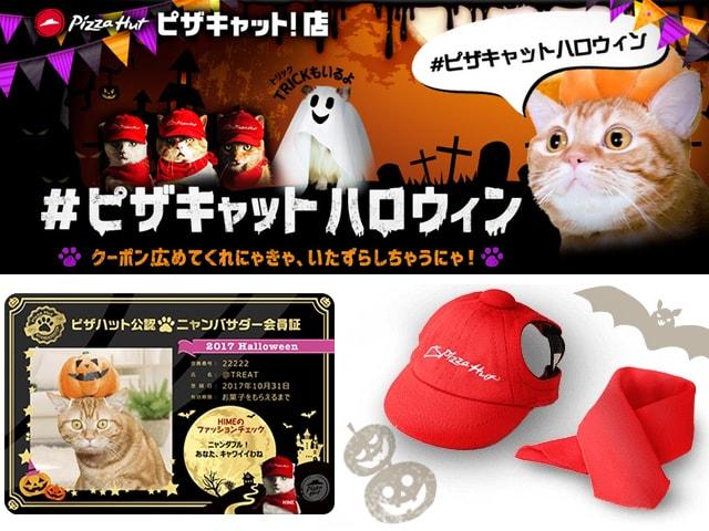 ピザキャット店が再び登場!ハロウィン限定の猫用グッズが当たるニャ