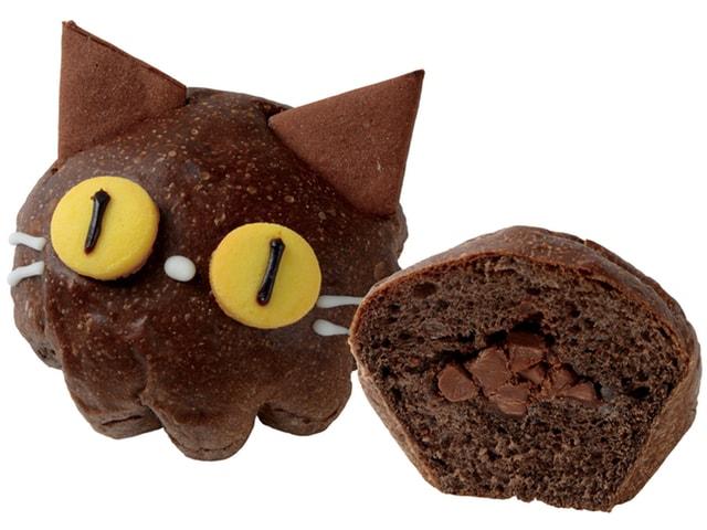手作りパン専門店HOKUOのハロウィン限定商品、黒猫のココアパン「黒にゃんこ」