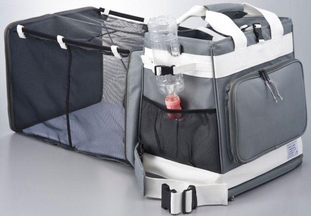 給水口のある防災キャリーバッグ「GRAMP」