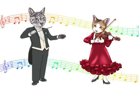猫の音楽コンサート