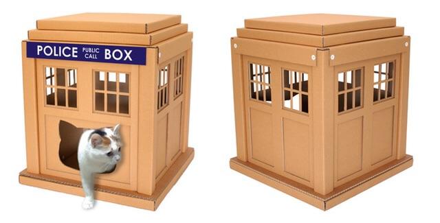 ポリスボックスのダンボール猫ハウス