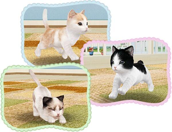 色んな猫が登場するゲームアプリ(てのひらニャンコ)
