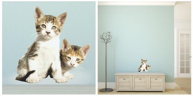 2匹の子猫(ねこウォールステッカー)