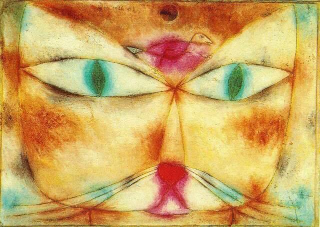 パウル・クレー 猫の美術作品