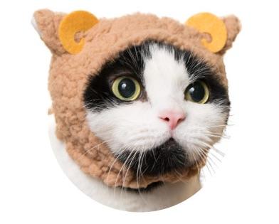 猫のかぶりもの、親ひつじ(ゆったりブラウン)