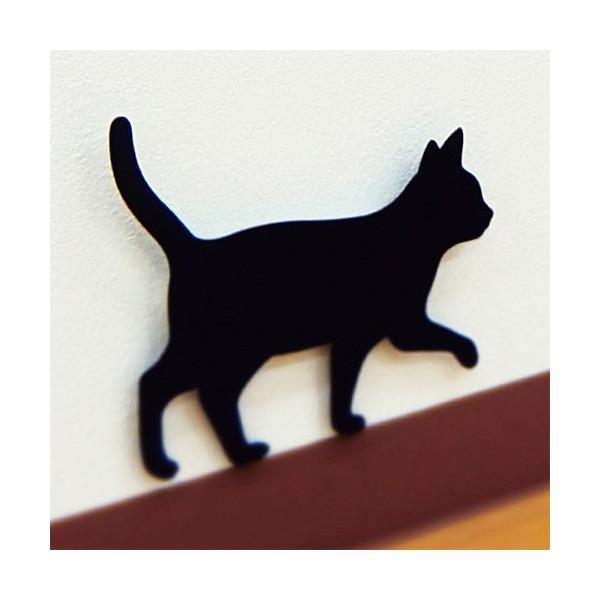 昼間は猫のインテリアとして可愛い猫シルエット<