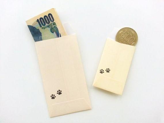 ポチ袋にお金を入れた時のイメージ