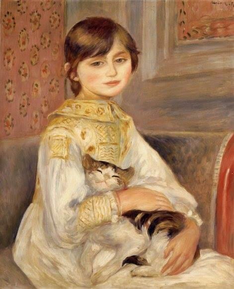 ルノワール 猫の美術作品