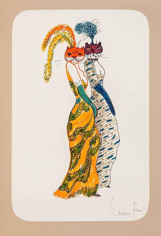 レオノール・フィニ 猫の美術作品
