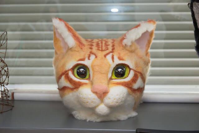 前から見たリアル猫ヘッド