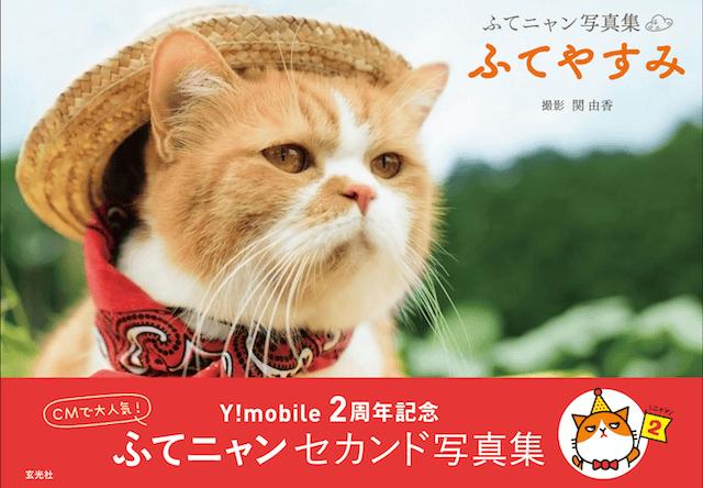 Y!mobileのCMで人気の猫「ふてニャン」、第二弾写真集「ふてやすみ」