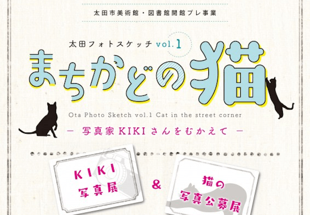 太田市のまちかど美術館本町ギャラリーで、猫の写真展を開催中