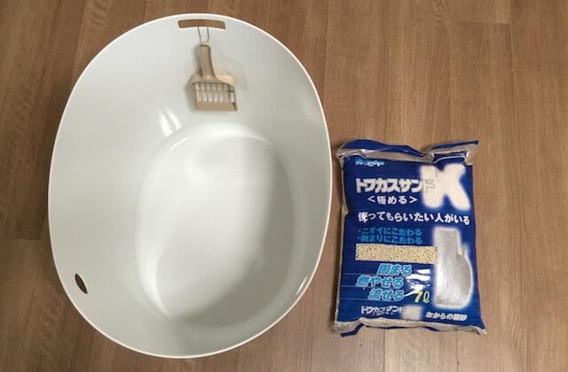 「上から猫トイレ」とトフカスサンドKの比較