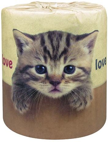 猫トイレットペーパー「やっぱり猫が好き」の包装紙