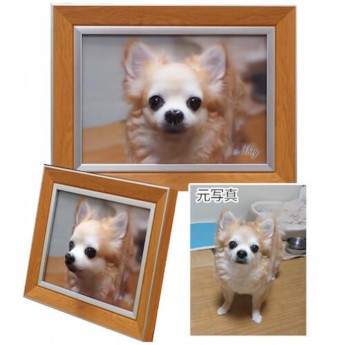 ペットの高画質の写真データを元に作り出します