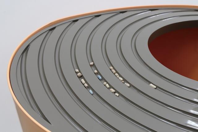 フタの溝にある凹凸加工