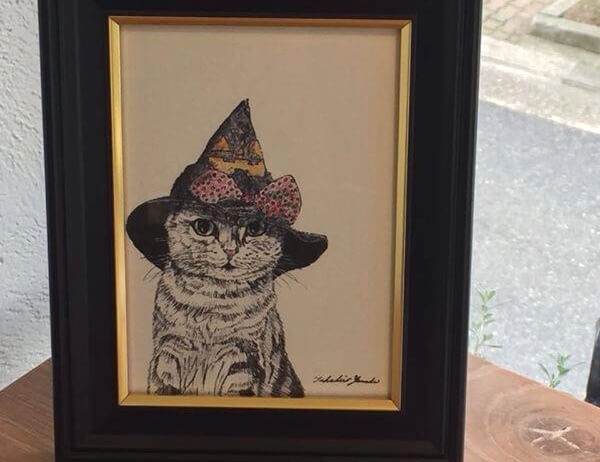 山田貴裕さんによる猫のペン画2