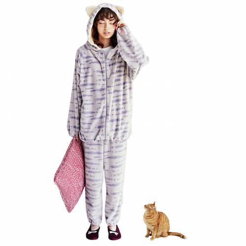 猫耳付きルームパーカーとお揃いで着れるルームパンツ