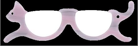 にゃんグラス(色:ピンクチョコ)