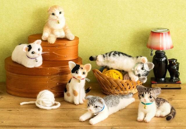 羊毛フェルトで作れる猫は6種類