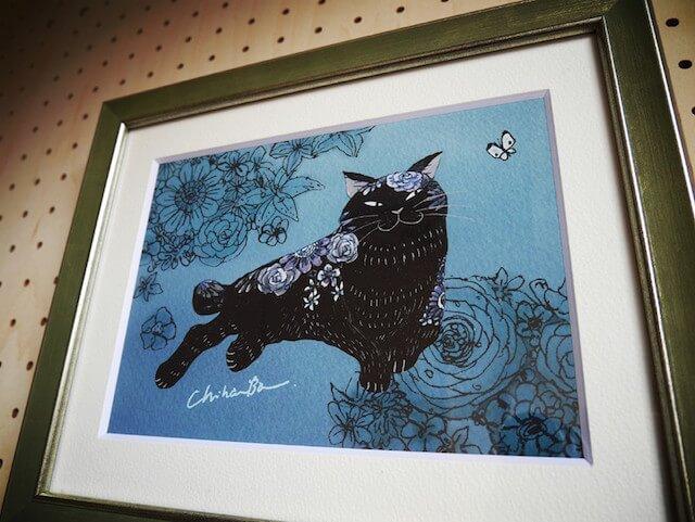 バンチハルさん作「黒猫のイラスト」