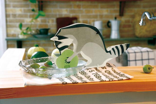 アライグマのペーパー加湿器