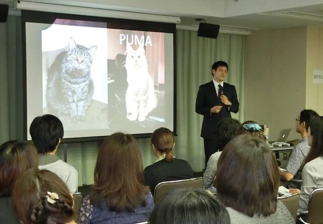 服部幸先生による第1回セミナー「ネコと幸せに暮らす」の様子