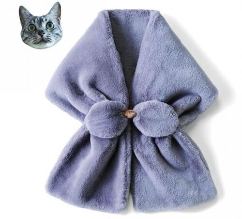 猫のひげ袋ネックウォーマー1