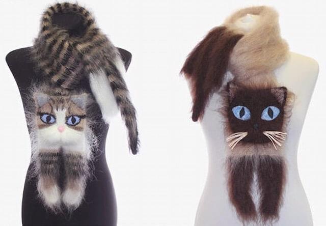 ウクライナの猫好き作家が作る、もふもふ猫マフラーが発売中