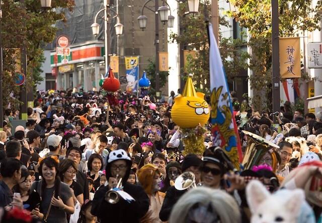 神楽坂 化け猫フェスティバルの様子