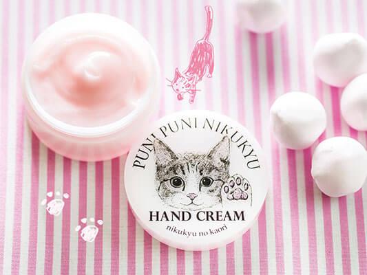 猫の肉球の香りがするハンドクリーム(ピンク色)
