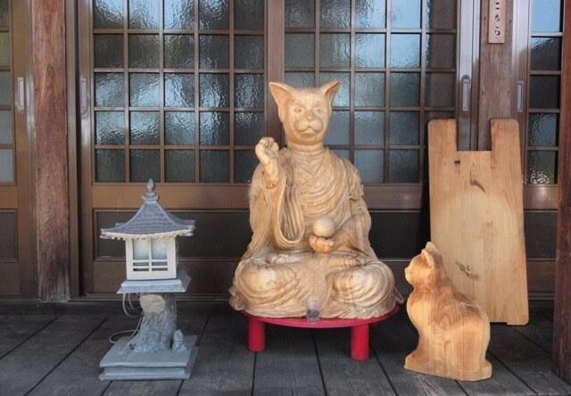 猫寺・雲林寺には猫仏さまも鎮座