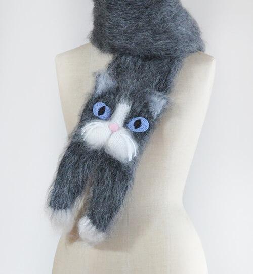 クツシタ猫のマフラー