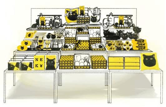 クロネコヤマトとのコラボグッズが購入できる「ロフトの小さい贈り物コーナー」