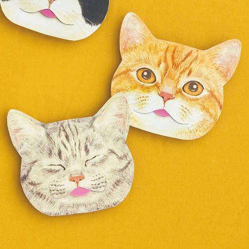 「サバトラ&マンクス」猫の舌のしまい忘れあぶらとり紙