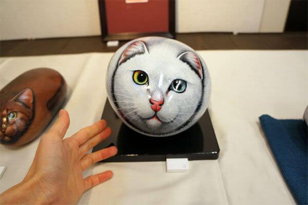 石猫作家、阿曽沼一司さんが制作した石猫