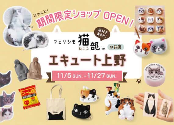 フェリシモ猫部の期間限定ショップ エキュート上野