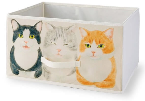 ハチワレ猫の香箱座り収納ボックス