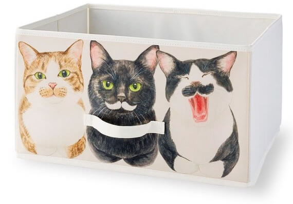 ヒゲ猫の香箱座り収納ボックス