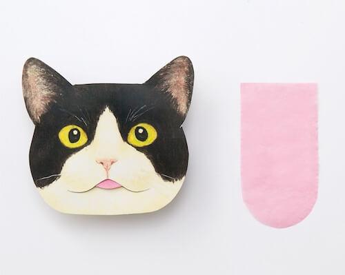 猫の舌の形をした、あぶらとり紙