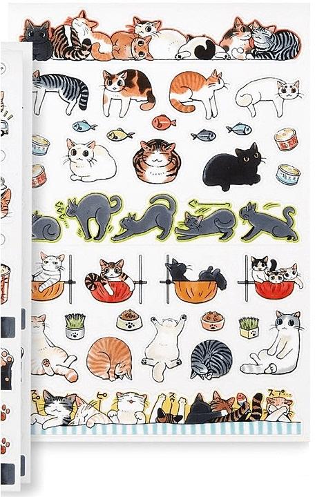 手帳を楽しく飾れるデコレーションシール(猫まみれ手帳シール)