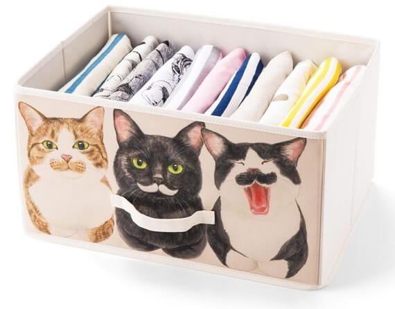 Tシャツやカットソーなど、衣服を収納するケースに使える